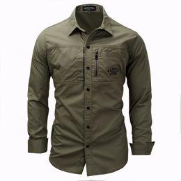 8324c352a KhaKi military shirt online shopping - Men Shirt Military Mens Long Sleeve  Slim Fit Camisa Masculina