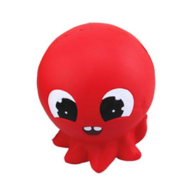 China Creative PU Squishies Animal Eye Hand Coordination Interesting Toys Soft Red Octopus Bread Squishy Factory Direct 15 2cy BR supplier hand eye toys suppliers