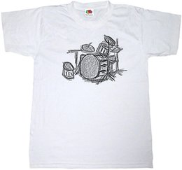 New drum kits online shopping - DRUM KIT T SHIRT COTTON MUSIC DRUMMER HEAVY ROCK METAL SKETCH ART T SHIRT New T Shirts Funny Tops Tee New Unisex Funny Tops