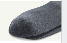 double cotton socks UK - Socks men five double gift box simple business cotton socks