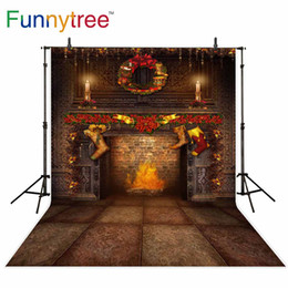 vintage photography backdrops Australia - wholesale photography backdrops vintage room fireplace brick Christmas decoration background for photo studio photocall prop