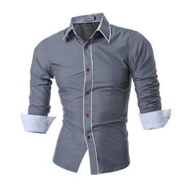 $enCountryForm.capitalKeyWord Australia - 2018 New Mens Long Sleeved Man Dress Shirts Double Collar Button Unique Design Slim Brand Shirts Male Shirts