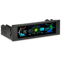 """cpu fan coolers 2019 - STW 5036 5.25"""" Drive Bay PC Computer CPU Cooling LCD Front Panel Temperature Controller Fan Speed Control for Deskt"""