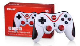 Gamepad controller ios online shopping - single piece Bluetooth Gamepad Joystick Gen S5 Game Wireless Gamepad Joystick for IOS Android Smartphone Tablet PC Remote Controller DHL