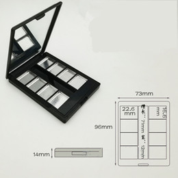 empty palette wholesale Australia - Cosmetic Packing+Palette Empty 8 Grids Eyeshadow Lipstick Powder Box Case fast shipping F1535