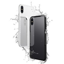 Chinese  New HD Transparent 9H 3D Tempered Glass Back Cover Case Flexibility Soft TPU Shock Absorption Bumper Aseismic Airbag for iPhone X Goophone X manufacturers