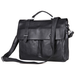 $enCountryForm.capitalKeyWord UK - Nesitu Promotion Black Genuine Leather Men Briefcase 14'' Laptop Portfolio Men's Messenger Bags Male Shoulder Bag M7100