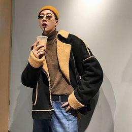$enCountryForm.capitalKeyWord Australia - 2018Autumn And Winter Coat Deer Skin Jacket Men's Short Motorcycle Clothes Cotton Korean Version Of The Loose Black   Khaki M-XL