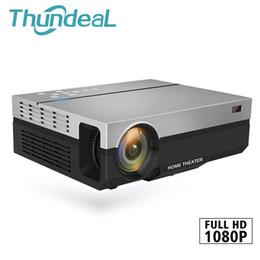 3d tv gaming online shopping - ThundeaL Full HD Projector T26K Native P Lumens Video LED LCD Home Cinema Theater HDMI VGA USB TV D Option T26 Beamer