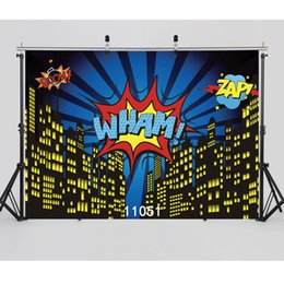 backdrop city NZ - 7X5ft camera backdrops vinyl cloth photography backgrounds superhero city view children baby backdrop for photo studio 11051