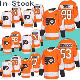 195e748f3 Philadelphia Flyers 28 Claude Giroux Jersey 53 Shayne Gostisbehere 11 Travis  Konecny 17 Wayne Simmonds 93 Jakub Voracek jersey Hockey Jerse