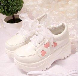 Японская Лолита Обувь Кроссовки Любовь Сладкая Принцесса Милый Студент Косплей Обувь Белый 35-40