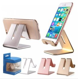 $enCountryForm.capitalKeyWord NZ - Universal 3 Colors Aluminum Metal Cell Phone Tablets PC Desk Stand Holder Support Bracket With Package