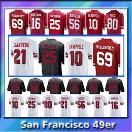 10 Jimmy Garoppolo San Francisco 49er jersey 7 Kaepernick 80 Jerry Rice 25 Richard  Sherman 16 Joe Montana 56 Reuben Foster jerseys e5c246bf4