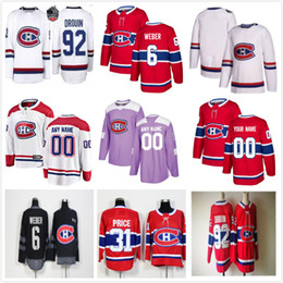 c892e023e 2018 Newest 100 Classic Any number   number Hockey Jersey Men Montreal  Canadiens 31 Carey Price 27 Galchenyuk 6 Shea Weber Custom Jersey