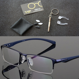 a773a1bc77 2018 Fashion Titanium rimless eyeglasses frame Brand designer Men Glasses  suit reading glasses optical prescpriton lenses