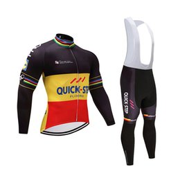 2018 QUICK STEP Team Bike Cycling Jersey Set Ropa Ciclismo Tour de France Men  Bicycle Shirt Bib Pants suit Racing clothing 111405Y 4cbe54914