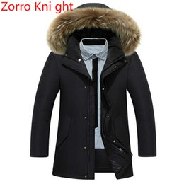 long warm parka mens 2019 - Winter Jacket Men Brand Fashion New Arrival Casual Slim Thick Warm Mens Coats Parkas With Hooded Long Overcoats Clothing