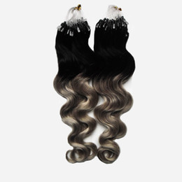 $enCountryForm.capitalKeyWord UK - Per Strand 200g Gram Per Package Body Wave Micro Loop Ring Extensions Remy Hair Pre Bonded