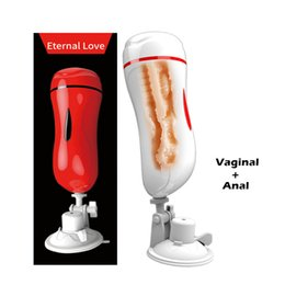 Realistic Male Masturbation Toys Australia - MizzZee Vagina Anal Double Tunnels Masturbation Cup Sex Toys For Men Realistic Pussy Male Masturbators Suction Cup Sex Product