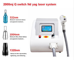 Wholesale Tattoo Removal NZ - HOT 1320 532 1064nm Nd Yag Laser System for Tattoo Removal & Eyebrow callus removal