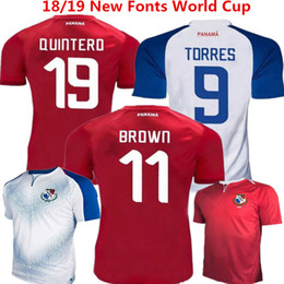 Soccer Jerseys Panama Home Red Football Shirts Torres 2018 Russia World Cup  Uniforms Nurse Godoy Quintero Ovalle Brown camisetas de futbol 85bcbadb8
