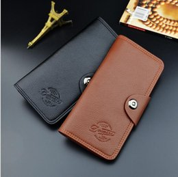 caviar beads Australia - 2018 Women's Black Lambskin Boy Long Wallets Card Holder Men's Genuine Caviar Leather Purse Two Folder Clutch Wallet Gold Hardware