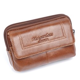 $enCountryForm.capitalKeyWord UK - MEIGARDASS Genuine Leather Waist Bags Men Belt Phone Pouch Bag Fashion Fanny Pack Male Travel Waist Packs 5 inch Cell Phone Case