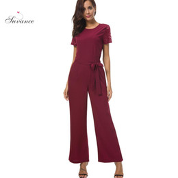 $enCountryForm.capitalKeyWord Canada - Spring Commute Casual Lace Stitching Short Sleeve Solid Color Women Jumpsuits