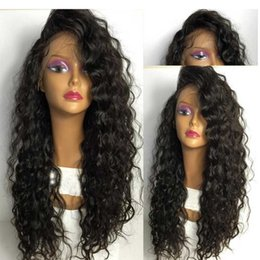 $enCountryForm.capitalKeyWord NZ - Full Lace Human Hair Wigs Curly Virgin Malaysian Lace Front Wig Human 150 Density Full Lace Glueless Human Hair Wig