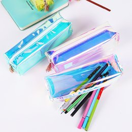 $enCountryForm.capitalKeyWord Canada - PVC Laser Transparent Pencil Case Dazzling Pencil Box Tassels Stationery Storage Organizer Makeup Bags Students Supply Pouch Coin Purse hot