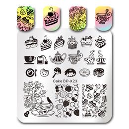 $enCountryForm.capitalKeyWord Australia - BORN PRETTY Square Stamping Template Geometry Movie Cake Dessert Musical Note Design Image Plate Nail Art Stamping Plates