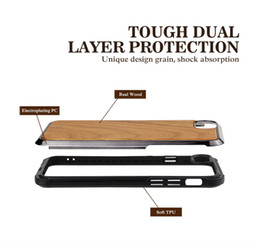 $enCountryForm.capitalKeyWord Australia - 2018 Hot sale for iphone 8 plus case shockproof soft edge protective wooden case Hybrid pc+tpu+wood defender case