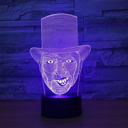 $enCountryForm.capitalKeyWord Australia - Clown Joker 3D Optical Illusion Lamp Night Light DC 5V USB Powered 5th Battery Wholesale Dropshipping Free Shippin