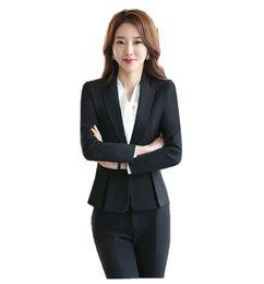 Blazer Suits Blazers Ladies Black Blazer Feminino Plus Size 3XL Formal  Jacket Women s White Blaser 2018 Female Blue Women Suit Office Ladies e347870f6b3b