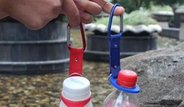 $enCountryForm.capitalKeyWord Australia - Outdoors Water Bottle Buckle Cup Hook Holder Clip Bottle Hanger Aluminum Carabiner travel Tool Camping Hiking Gadgets