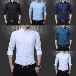 2018 Мода Мужские рубашки поло 100% хлопок удобные печатные с длинным рукавом повседневные платья дизайнер рубашки M-5XL