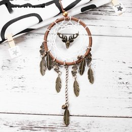 Practical Exquisite Dreamcatcher Retro Fawn Wind Chime Pendant Ornaments Creative Send Girlfriend Birthday Gift Handicraft Artistic 7 6xr Y