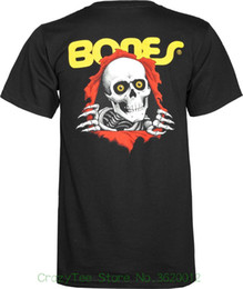 Wholesale New Short Sleeve Round Collar Mens T Shirts Fashion Powell peralta Youth Size Ripper T shirt