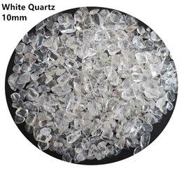 C01 200 г 10 мм AA Бразилия белый кристалл натуральный камень чипсы гравий кварцевый Аквариум сад
