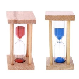 sand hourglass gifts 2019 - 5 Minutes Hourglass Sandglass Sand Clock Timers Wooden Frame Kids Toy Gifts Teeth Brush Hourglass Home Decor Sand Timer
