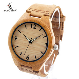 China watch hello kitty movie BOBO BIRD 2017 Mens Watches Brand Luxury Quartz Wooden Wristwatch Leather Strap Male Bamboo Watch relogio masculino cheap jade watches suppliers
