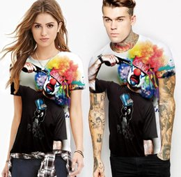 $enCountryForm.capitalKeyWord NZ - 2018 explosion models clown digital printing bottoming shirt T-shirt leisure sports speed short-sleeved crew collar top