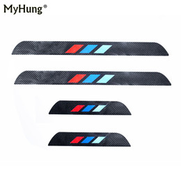 4D M Styling Carbon Fiber Car Sill Protectors Door Sill Cover Stickers For  BMW X3 X4 F25 F26 2011 To 2016 4Pcs Car Accessories