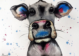 $enCountryForm.capitalKeyWord NZ - Handpainted & HD Print Modern Abstract Animal Art oil painting Cow Home Wall Decor On High Quality Thick Canvas Multi Sizes a69