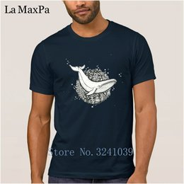 $enCountryForm.capitalKeyWord Australia - Custom Fashion Men T Shirt 100% Cotton Spring Autumn T-Shirt For Men Flowers Whale Tshirt Man Male Plus Size 3xl High Quality