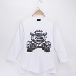 Grils Shirts Australia - 2018 Hot Sale Children Clothes Kids T-shirts Monster Truck 100% Cotton Full Long Sleeve Boys T Shirts Grils Clothing Baby Tops Child Shirts