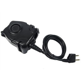 Discount tactical headsets ptt - 5 pcs Waterproof PTT Cable Black for Walkie Talkie GXT LXT Alan Midland Line Plug for Z Tactical Headset J6512A