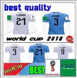 9d98a2d5f URUGUAY 2018 World Cup Soccer Jersey Thailand D.GODIN E.CAVANI URUGUAY L. Suárez 18 19 World Cup football shirt J.M.Giménez Soccer Jerseys