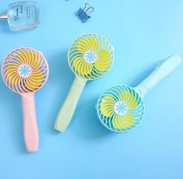 Discount air cool fans - Mini Folding Portable Fan USB Rechargeable Foldable Handheld Mini Fold Fan Air Cooler Cooling Fan